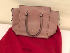 Valentino Rockstud Medium smooth Leather Tote Bag (Beige)