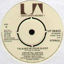 "[ROGER COOK] CRYSTAL GAYLE ~ TALKING IN YOUR SLEEP ~ 1978 UK 7"" SINGLE"