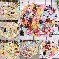10/50x Resin Mixed Food Cake Flatback Cabochon Embellishment For Cellphone Craft