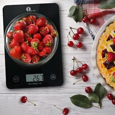 5000g Digital Kitchen Scale Food Weighing Glass LCD Electronic Balance Scales US