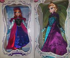 "Disney Frozen Anna Elsa Coronation Snow Queen Limited Edition 5000 17"" Doll Set"
