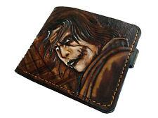 Men's 3D Genuine Leather Wallet, Hand-Carved, Batman, The Dark Knight, Joker