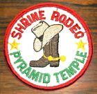 GEMSCO Vintage Patch FRATERNAL - MASONIC PYRAMID TEMPLE - SHRINE RODEO Ocala FL for sale