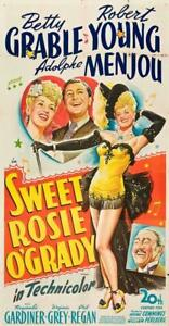 Sweet Rosie O'Grady Movie POSTER 11 x 17 Betty Grable, Robert Young,  B