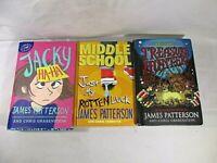 James Patterson Kids Books Treasure Hunters Middle School Jacky Ha Ha 3 Lot