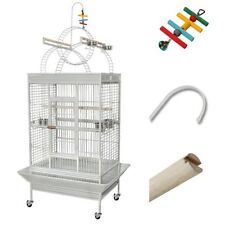Large Parrot Bird PlayTop Stand Finch Cage Macaws Aviary Pet Supply w/ Free Toy