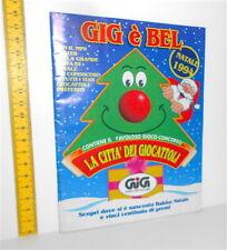 GIG E' BEL Natale 1994 italy catalogo giocattoli: trasformers,nintendo,5 samurai
