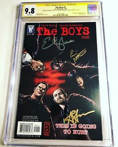 CGC SS 9.8 The Boys #1 signed Antony Starr Erin Moriarty & Elisabeth Shue Amazon