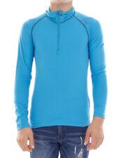 CMP Sweatshirt Function Top Blau Collar Stretch Softech Thin