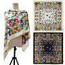 Fashion Women Floral Birds Flower Printed Twill Silk Head Shawl Square Scarf
