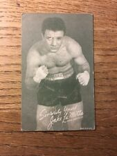 "Jake LaMotta Autographed Signed 3x5 PHOTO Card - -""PRINT"" 1940'S"