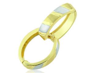 333 Gold 8 Karat Creolen bicolor Ohrringe 2 Stück 1 Paar 100 Tage Rückgaberecht
