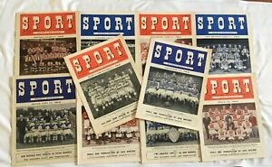 Vintage Sport Weekly Magazine 1948-49 Vol.4 & Vol.5 13 Issue Bundle
