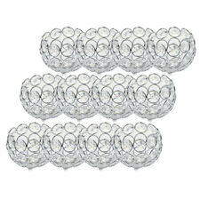 12x Crystal Beads Candle Holder Candlestick Tabletop Centerpieces -Silver