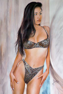 "ORIGINAL painting pin up, model (created by W. Berg ""hallovicky"")"