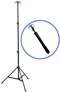 Drip Stand with 4 Hook, IV intreveanous Foldable Pole Stand Medical care homes
