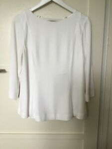 Mint Velvet Striped Fluted Sleeve T-Shirt UK size 16  top 3//4 sleeves tee