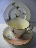 ROYAL ALBERT THE COPPICE PHEANTS TRIO CUP SAUCER PLATE BONE CHINA ENGLAND V2105