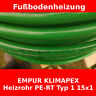 Fußbodenheizung - 98 m - EMPUR KLIMAPEX Heizrohr PE-RT Typ 1 15x1