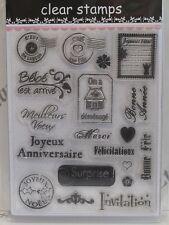 Francés franqueo Recuerdos & sentimientos Transparente Sellos 19 Diseños (1906) cardmaking