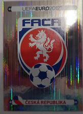 Sticker nº 137 emblema la república checa-Panini UEFA Euro 2012 futbol