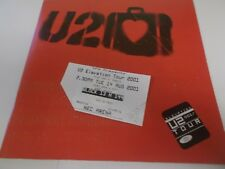 U2 ELEVATION TOUR PROGRAMME AND TICKET NEC 2001