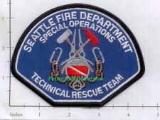 Washington - Seattle Technical Rescue Team WA Fire Dept Patch Special Operations