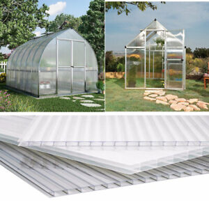6/12/18/24X Twinwall Polycarbonate Sheet Conservatory Carport Canopy Roofing 4MM