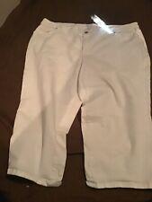 Style & Co Womens Denim Capri White Jean Plus Size 22W