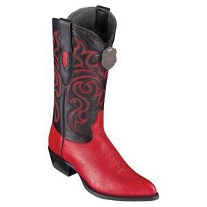 Men's Los Altos Genuine Smooth Ostrich Boots J Toe Handmade EE LA999712