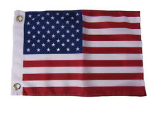 "12x18 12""x18"" USA US American 50 Star Silk Nylon-Polyester Flag Grommets"