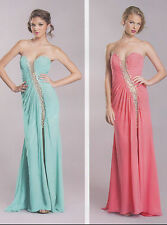 CORAL SEXY PAGEANT PROM COCKTAIL DRESS HOMECOMING EVENING FORMAL GOWN  XS/Fit 2