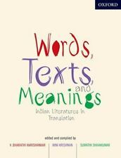 Words, Texts, and Meanings: Indian Literatures in English Translation