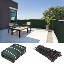 Fence Privacy Screen Windscreen Shade Fabric Cloth HDPE, 90% 4' x 50' Green
