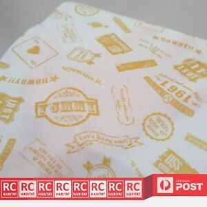 Wax Paper Stamps Grease-proof Food Packaging Wrapping Pastry Party Wrap
