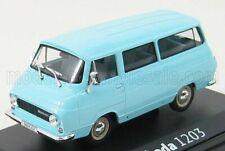 Abrex Models Skoda 1203 Minibus 1968 Light Blue - 1:43