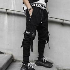 Niepce Matte Black Pants Relaxed Fit Streetwear Joggers Urban Harem Trousers