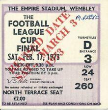 1973 League Cup Final Tickets