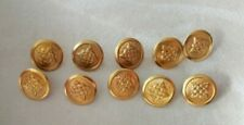 Croatian army 10 Military Uniform Buttons - small