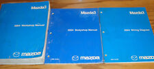 Original 2004 Mazda Mazda3 3 Shop Service Manual + Bodyshop + Wiring Diagram Set