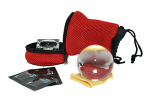 Kood 80mm K9 Clear Glass Crystal Ball Photography Sphere + Stand Pouch Cloth KIT