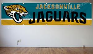 Jacksonville Jaguars Banner Flag 2X8Ft NFL Flag Decor House Man Cave