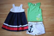3 x Janie and & Jack: Girls Dress, Shorts and Top, Size 6