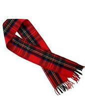 "Authentic Cosy Weave Scottish Tartans Unisex Merino Wool Scarfs (12"" X 69"")"