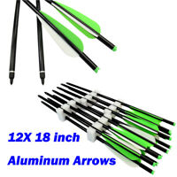 """12X 18"""" Aluminum Arrow Crossbow Bolts for Archery Outdoor Bow Target Hunting"""