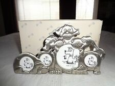 Dog Collage Pewter Frame