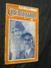 OCT 14, 1921 FRENCH CINEMAGAZINE Uncut Complete 29 pgs