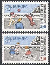 France 1989 Europa/Games/Children/Ball/Hopscotch 2v set (n35320)