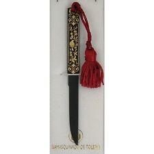 Damascene Gold  Kozuka Sword Letter Opener by Midas of Toledo Spain 2710