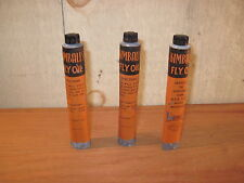 Three Vinatge Kimballs Fly Oil Tins - Enosburg Falls, Vermont - Advertising